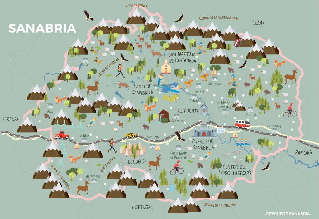 mapa Sanabria