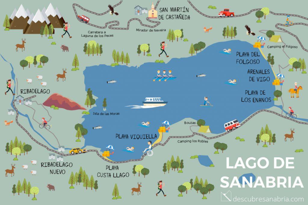 mapa lago de sanabria